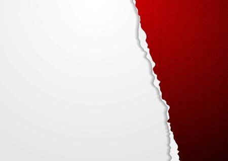 fondo rojo: Fondo abstracto del papel del vector con el borde irregular