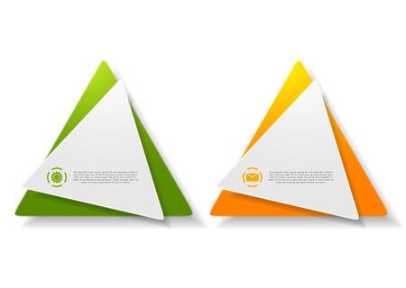 sticker vector: Abstract triangle shape sticker design. Vector background