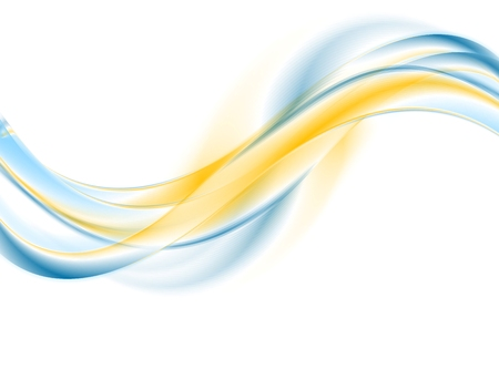 Bright abstract wavy corporate background.  Illustration