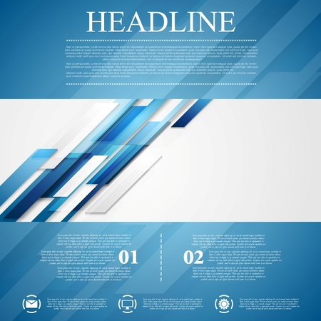 blue stripes: Blue shiny hi-tech motion flyer background. Vector design