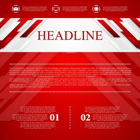 Red fondo abstracto del vector corporativa. Diseño vectorial Foto de archivo - 36127189