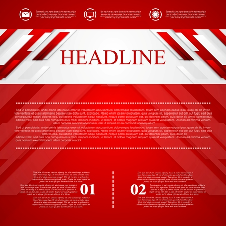 Red vector corporate abstract background. Vector design Illustration