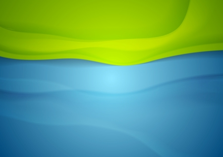 Abstract blue green wavy background. Vector design Illustration