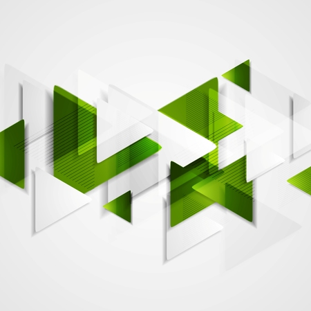 Hi-tech fondo verde abstracto. Diseño vectorial