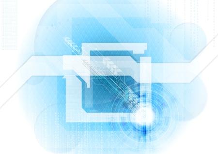 青い抽象的な技術の背景。ベクター デザイン  イラスト・ベクター素材