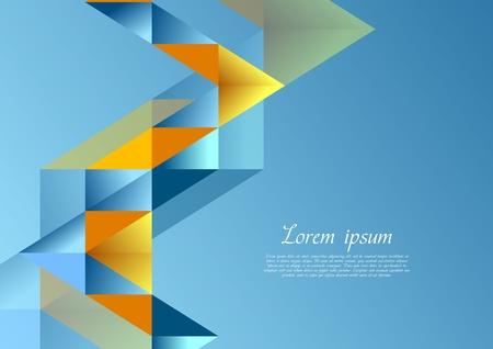 iridescent: Bright corporate tech background. Vector geometric design
