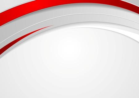Diseño de ondas rojas corporativa abstracta. Vector de fondo Foto de archivo - 36380783