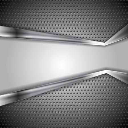 Resumen de vectores de fondo de metal perforado