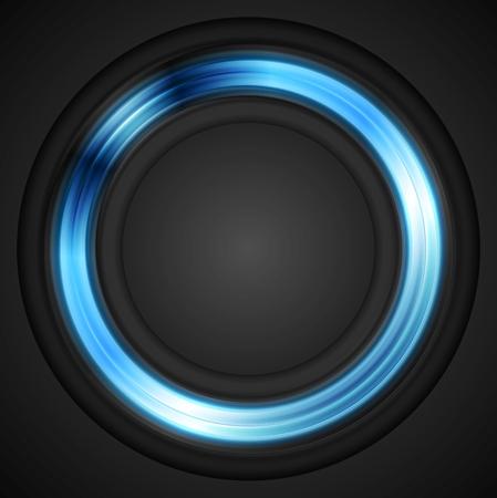 Blue glowing circle concept vector design Ilustração