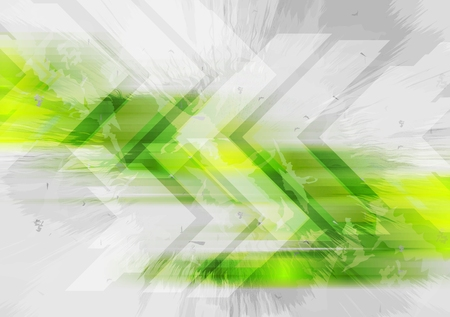 Grunge tech background with arrows. Vector illustration Vector
