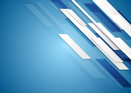 Blue shiny hi-tech motion background. Vector design Çizim