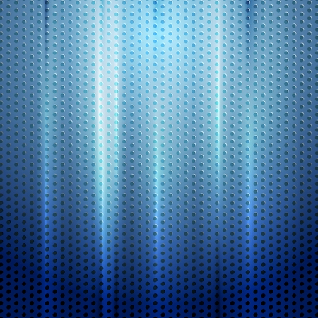 Bright blue abstract perforated texture. Vector background