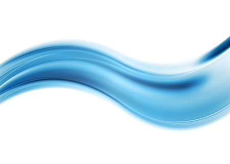 Abstract smooth blue wavy background. Vector design