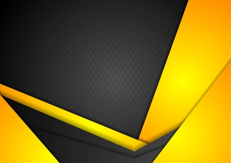 shiny black: Abstract dark yellow corporate background. Vector design