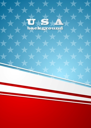 visions of america: Corporate bright abstract background. USA colors vector design