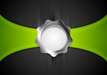 gear shape: Abstract background with silver gear shape. Vector illustration