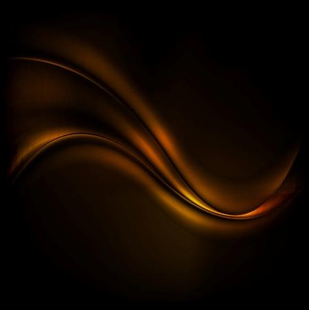 Chocolate wave abstract dark background. Vector design Vectores