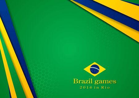 brazilian: Sport games vector background in Brazilian colors