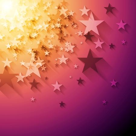 abstrato: As estrelas brilhantes fundo abstrato. Projeto do vetor Ilustração