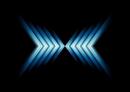 web banner: Glow blue arrows as X symbol. Vector background