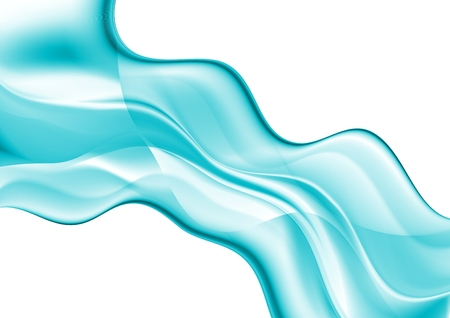 abstract waves: Abstract blue cyan elegant waves. Vector design