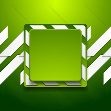 Green abstract geometric corporate background. Vector design Иллюстрация