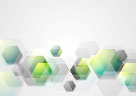dark green background: Abstract geometric background with hexagons. Vector design