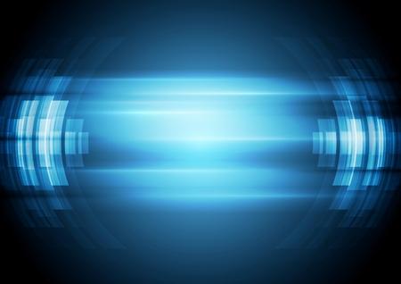 추상 파란색 하이테크 배경입니다. 일러스트