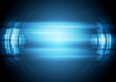 Abstract blue hi-tech background. Vector