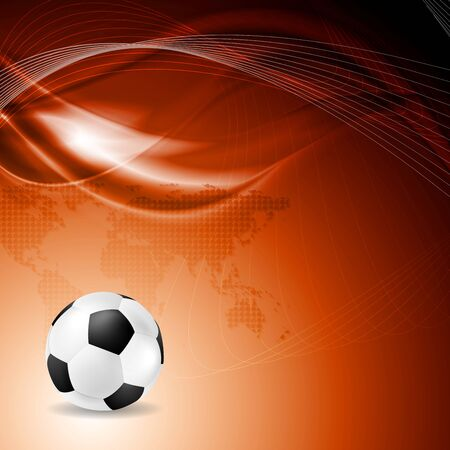 abstract waves: Soccer bright background with abstract waves.