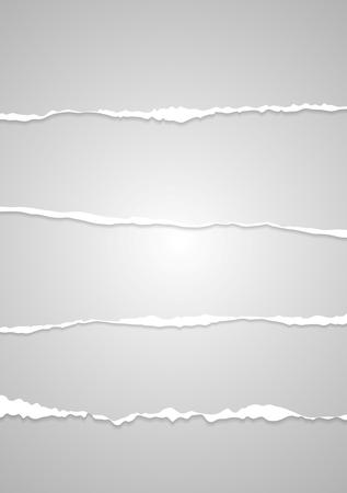 roztrhaný: Abstrakt šedá otrhaný okraj papíru.