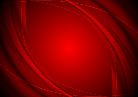 Dark red smooth wavy background.