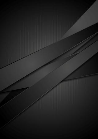 Black stripes tech background.   イラスト・ベクター素材