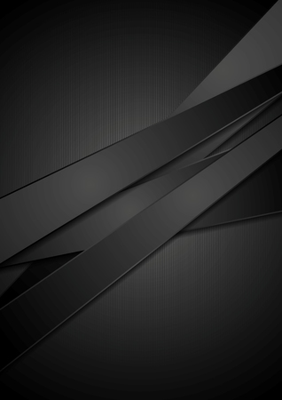 Black stripes tech background.  Vettoriali