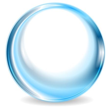 블루 추상적 인 원형 모양 디자인. 벡터 배경