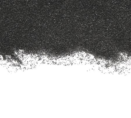 sand art: Black sand on white background. Vector design