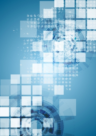 Bright blue tech background. Vector design 일러스트