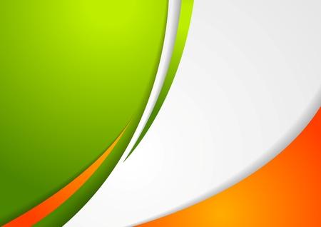 irish background: Corporate wavy abstract background. Irish colors. Vector design