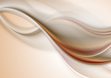brown backgrounds: Abstract elegant smooth waves background. Vector design Illustration