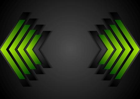 green arrows: Green arrows geometry corporate background. Vector design