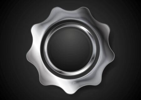 Metal abstract gear.  Vector
