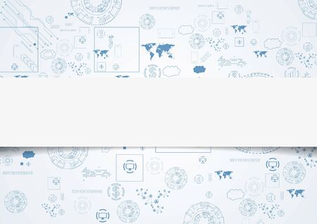 Tech engineering drawing abstract background.  Vector