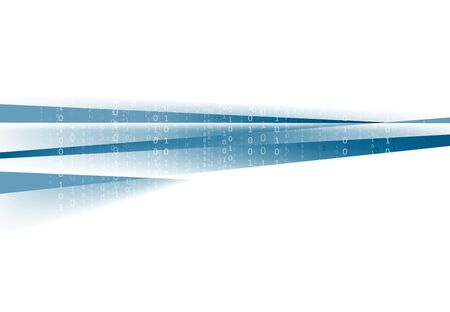 codigo binario: Fondo de tecnología azul abstracto. Diseño vectorial