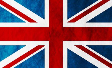 britain: United Kingdom of Great Britain grunge flag. Vector background Illustration
