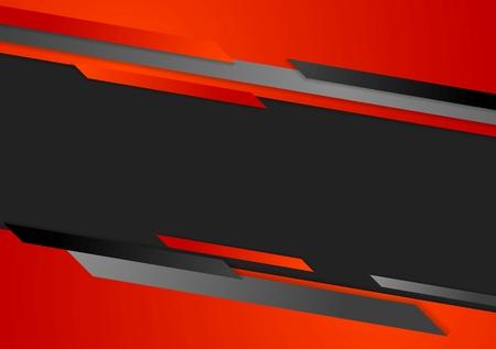 rojo: Corporativa fondo de alta tecnología oscuro abstracto. Diseño vectorial