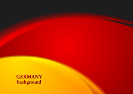 iridescent: Bright wavy abstract background. German colors. Vector design