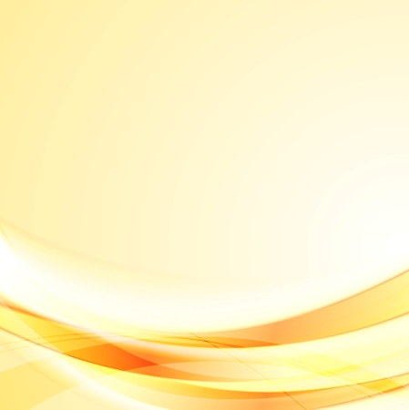 abstract waves: Bright smooth orange shiny waves background. Vector design