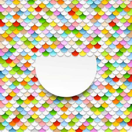 abstract art background: Colorful abstract art background. Paper circles vector design