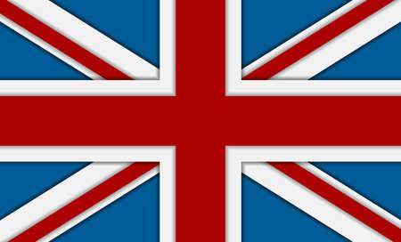 bandera de gran breta�a: Reino Unido de Gran Breta�a bandera. Vector de fondo corporativa Vectores