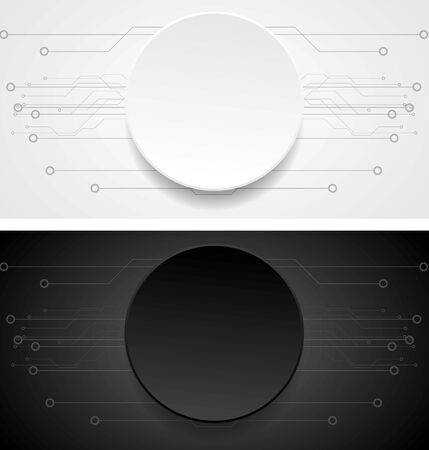drawing paper: Abstract vector banners.  Illustration of tech drawing. Paper design Illustration
